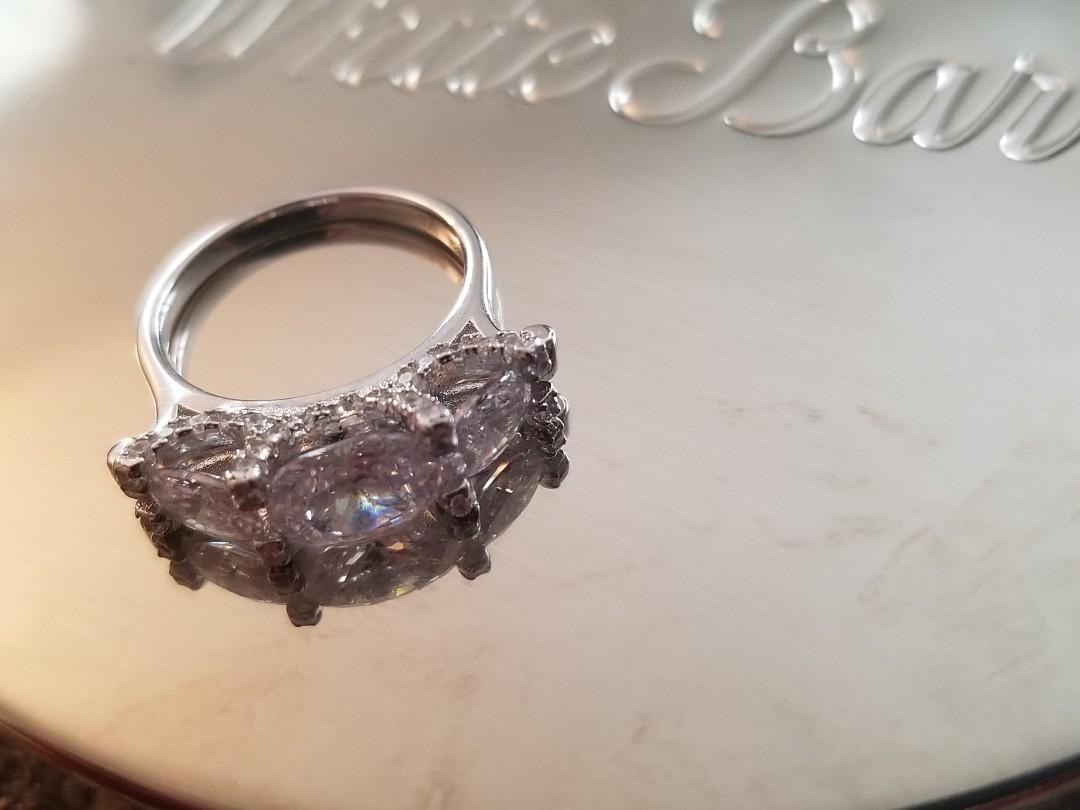 Beautiful Silver Charmed Aroma Ring