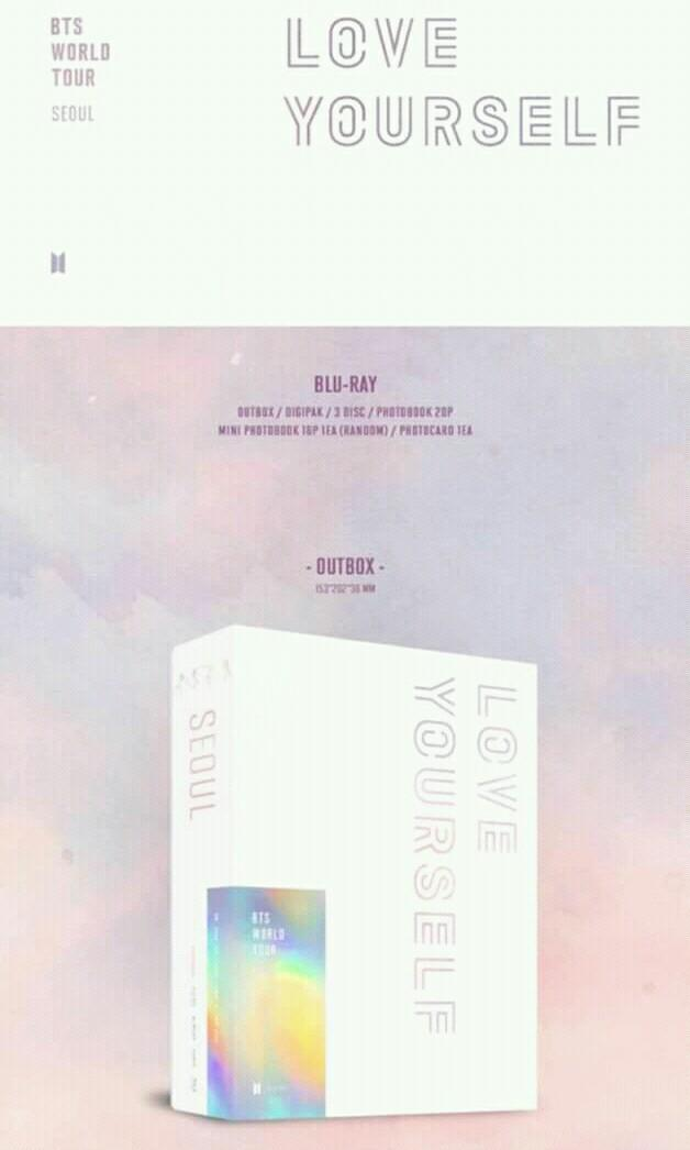 BTS - WORLD TOUR LOVE YOURSELF SEOUL BLURAY - PREORDER/NORMAL ORDER/GROUP ORDER/GO + FREE GIFT BIAS PHOTOCARDS (1 ALBUM GET 1 SET PC, 1 SET HAS 9 PC)
