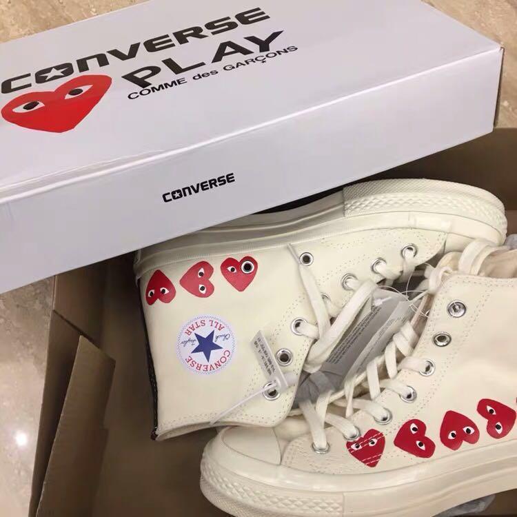 914e621396a8 CDG X Converse Multi Heart Chuck Taylor