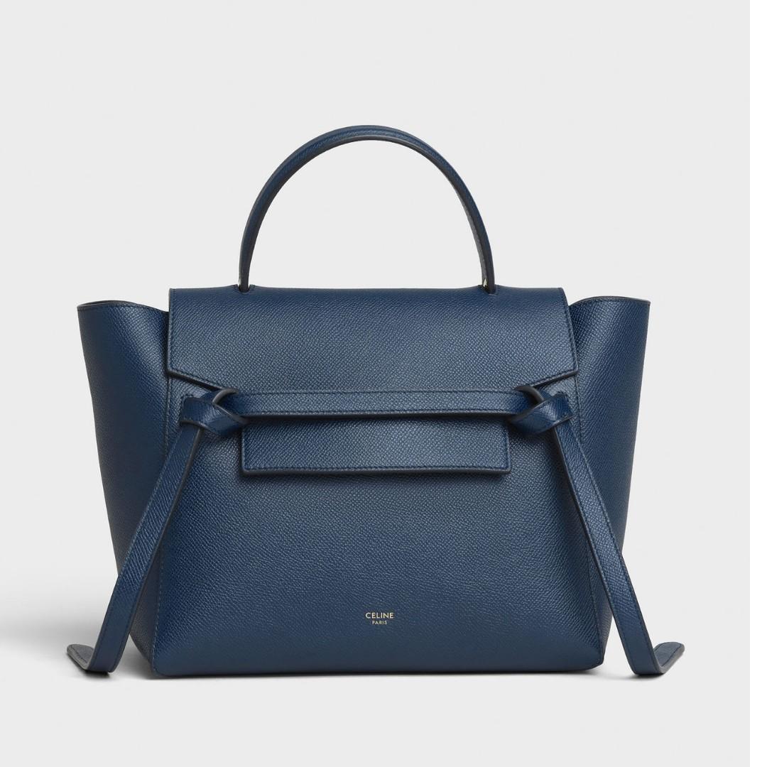 Celine Micro Belt Bag In Grained Calfskin Women S Fashion Bags Wallets Handbags On Carousell