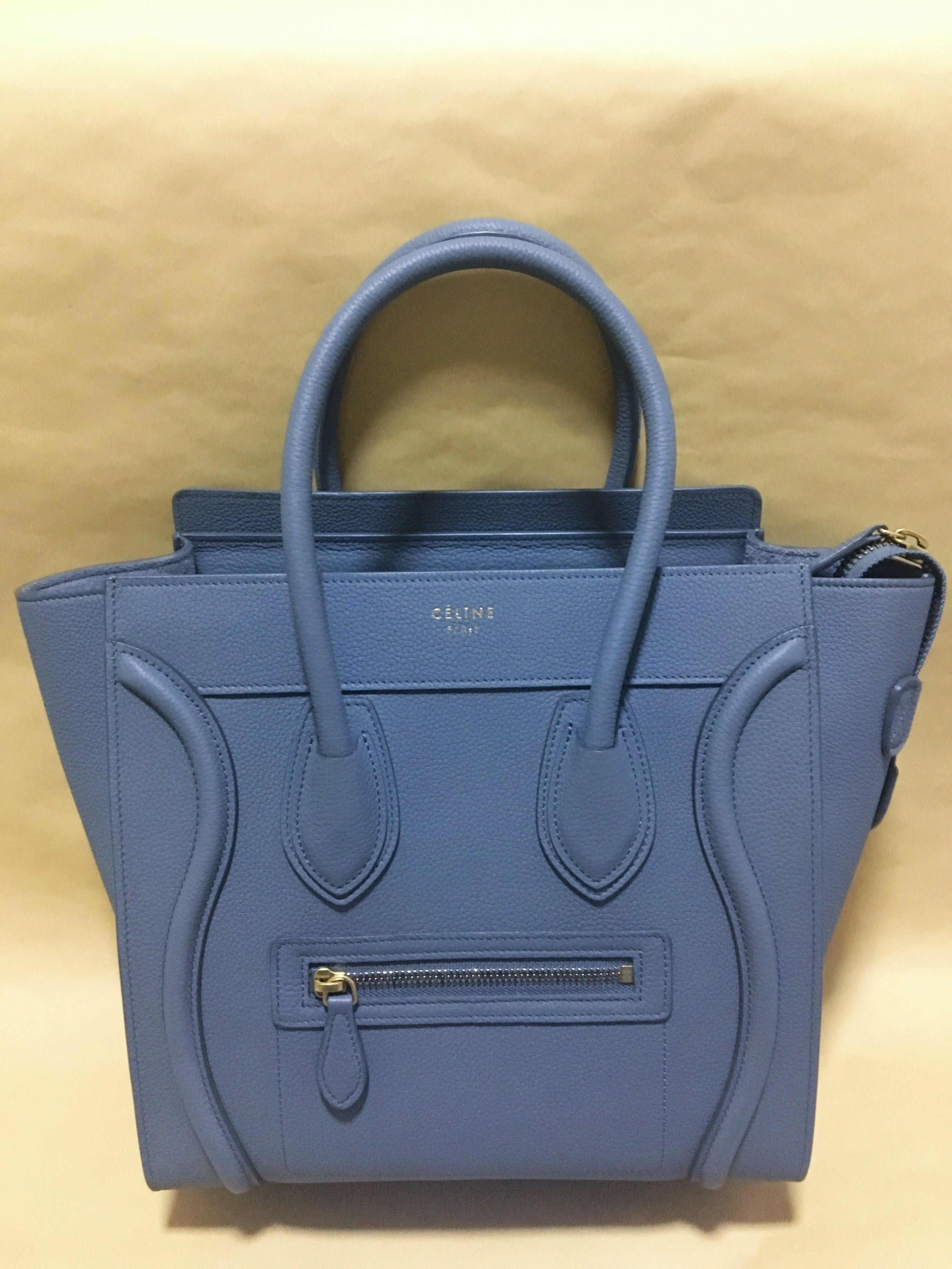 Celine Micro Luggage in Kohl c032b7e2b7acc