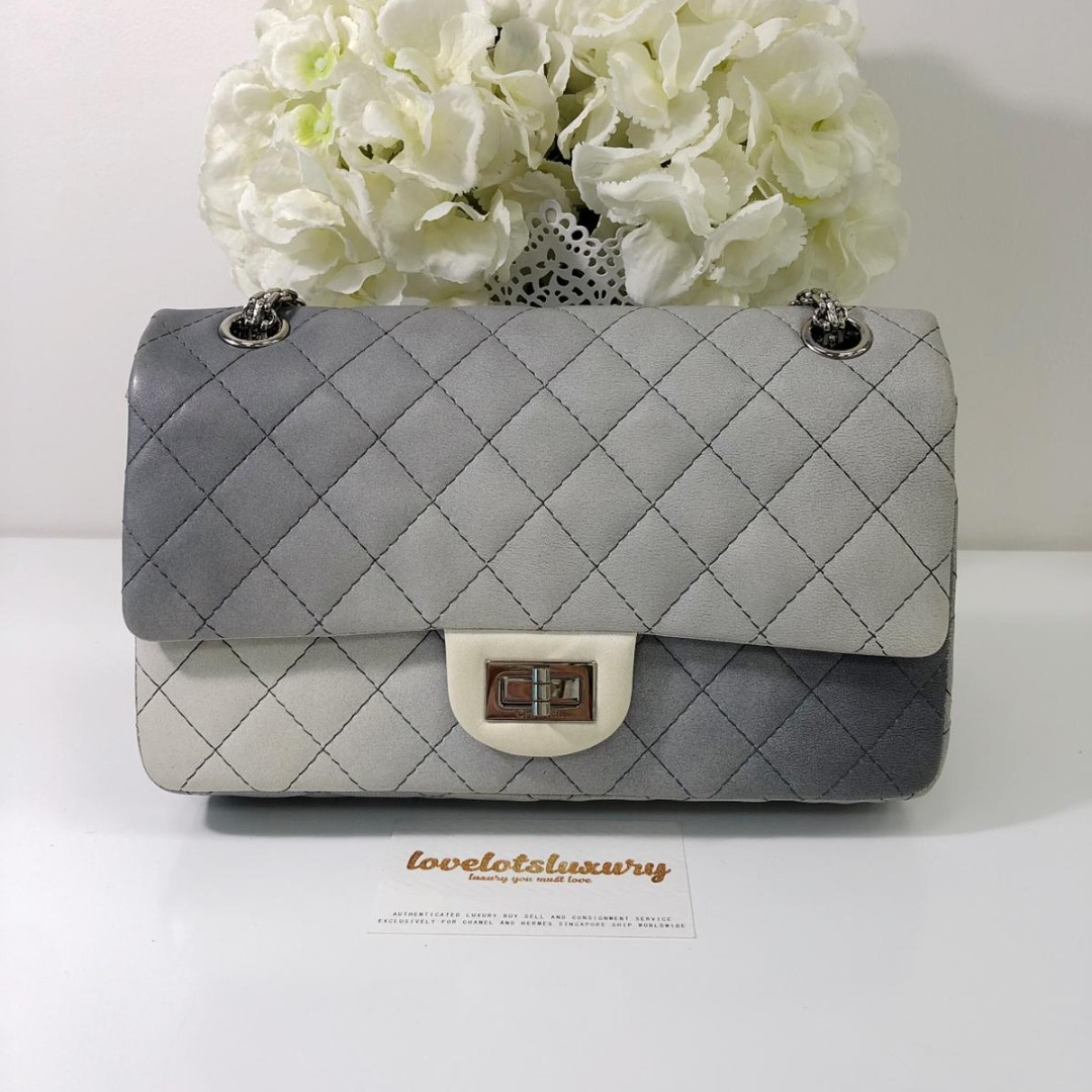 367cd1271e99 CHANEL, 2.55 REISSUE, 225, GREY OMBRE, Women's Fashion, Bags ...