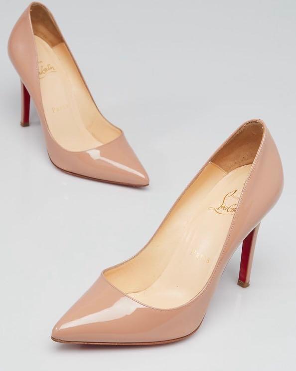 on sale b452e 3ba00 Christian Louboutin Pigalle 100 Nude, Women's Fashion, Shoes ...