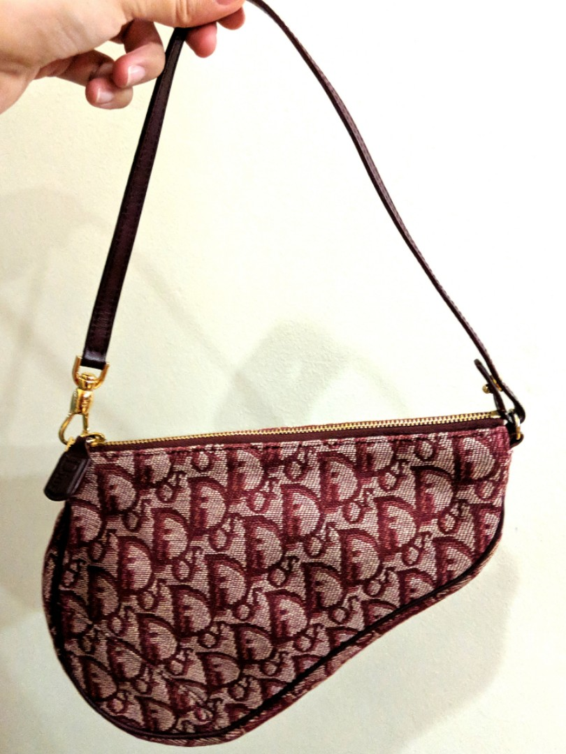 25b0e897462 Dior Trotter Saddle Bag in Burgundy, Luxury, Bags & Wallets ...