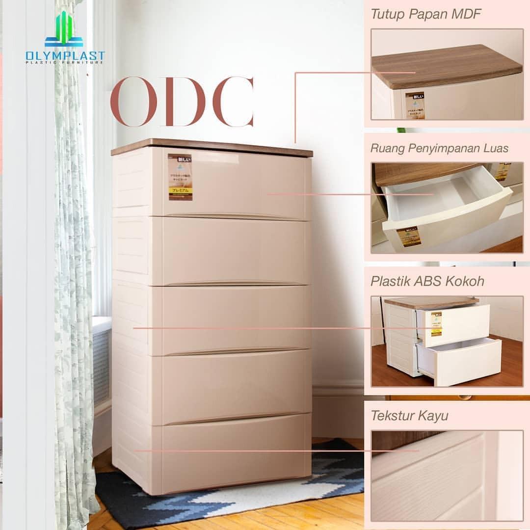 Drawer Cabinet :Laci Plastik Super premium Olymplast 5 susun