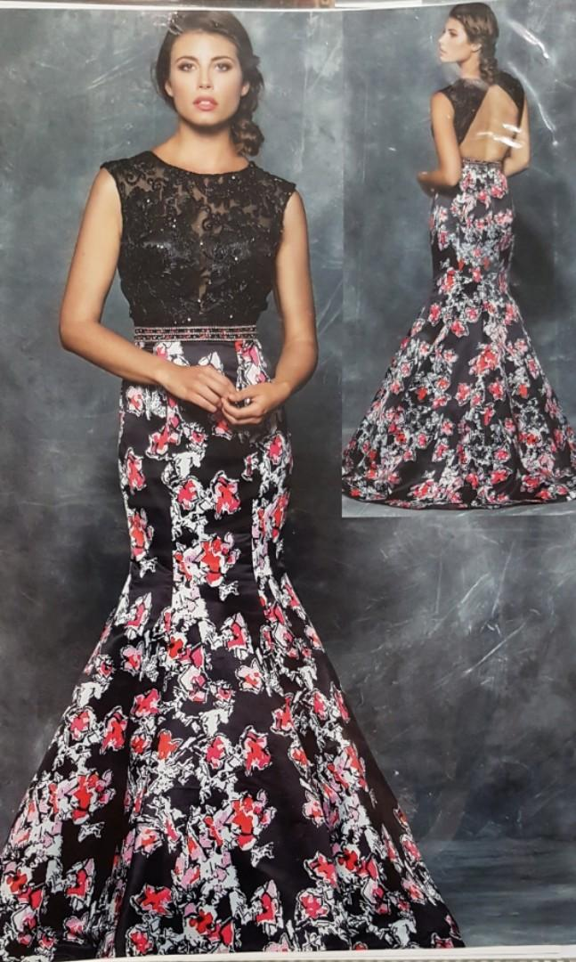 Evening Gown - Lace & Satin for Prom, Wedding, Graduation etc.