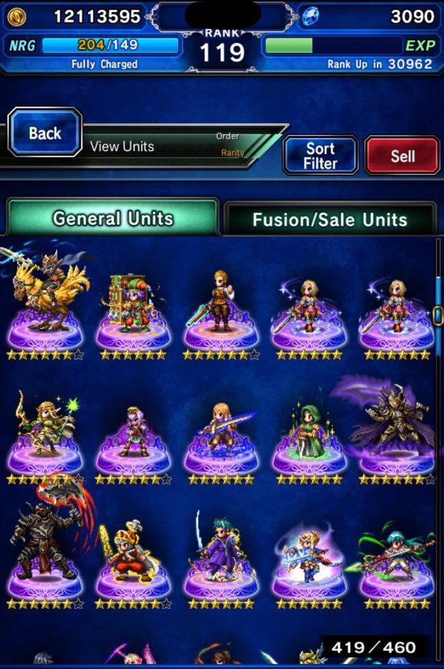 Final Fantasy Brave Exvius (FFBE)