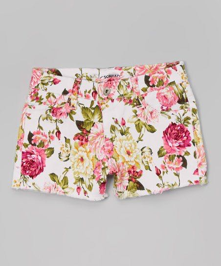 7751224eb43a9 Floral Patterned Shorts, Women's Fashion, Clothes, Pants, Jeans ...