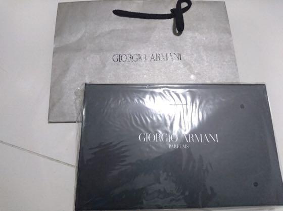 Giorgio Armani Parfums Black Pouch Clutch Evening Bag