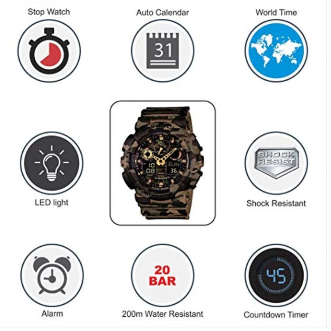 GSHOCK mens Automatic Watch, analog-digital Display and Resin Strap GA100CM-5A
