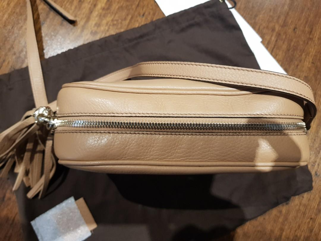 Gucci tan disco bag authentic with receipt and dust bag. Excellent condition, hardly used