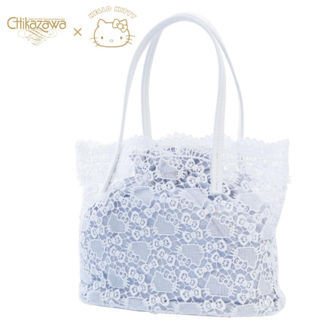 01382e5fd8 Japan Sanrio Hello Kitty Chikazawa Lace Store Tote Bag with ...