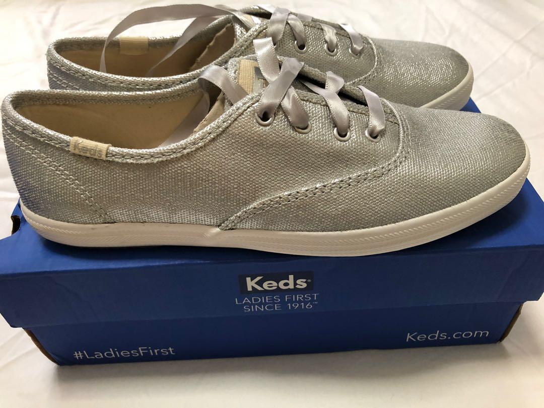 3123003907a Keds Metallic Silver Sneakers