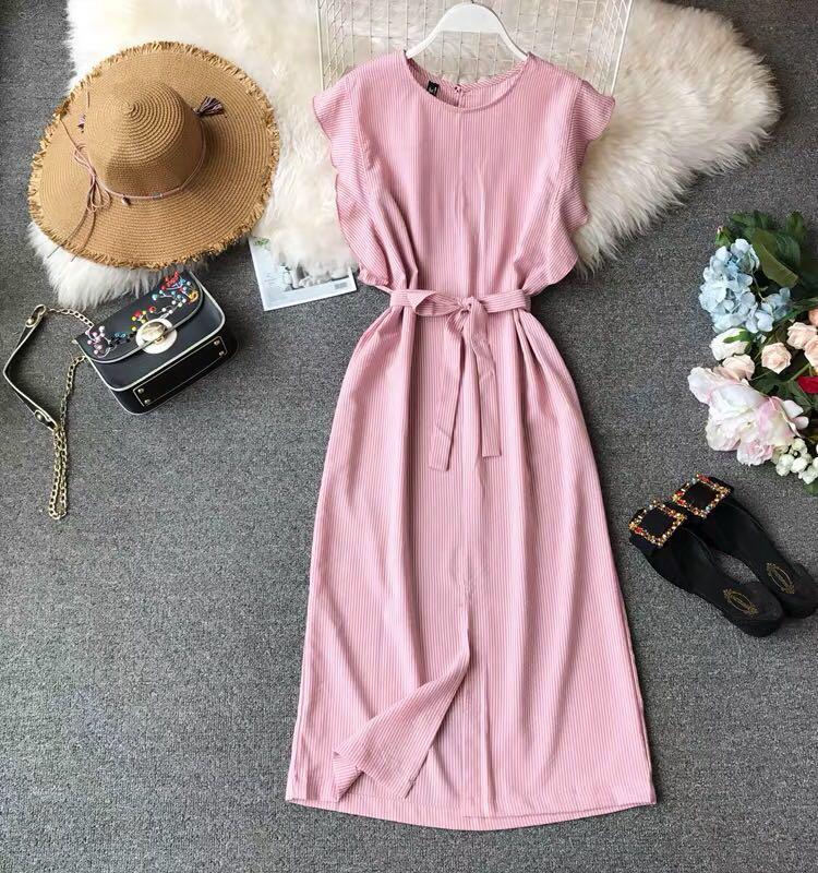 Korea Oversized Midi Dress Free Mailing Women S Fashion Clothes
