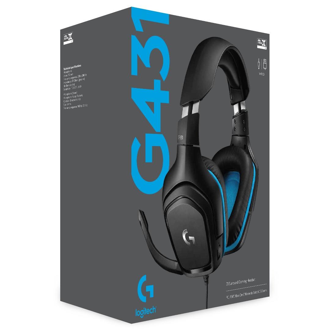 Logitech G431 7 1 Wired Surround Sound Gaming Headset (PC/Mac/XB1/PS4/NSW)