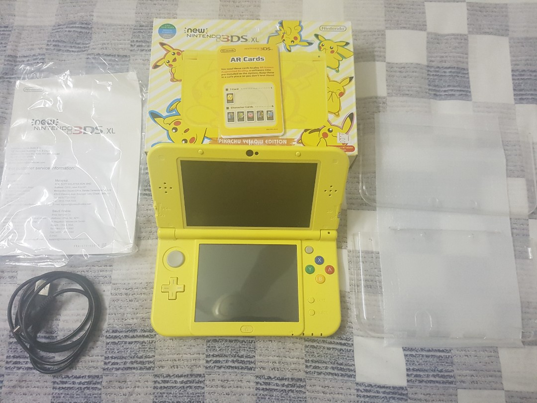 Modded New 3DS XL Pikachu Yellow Edition