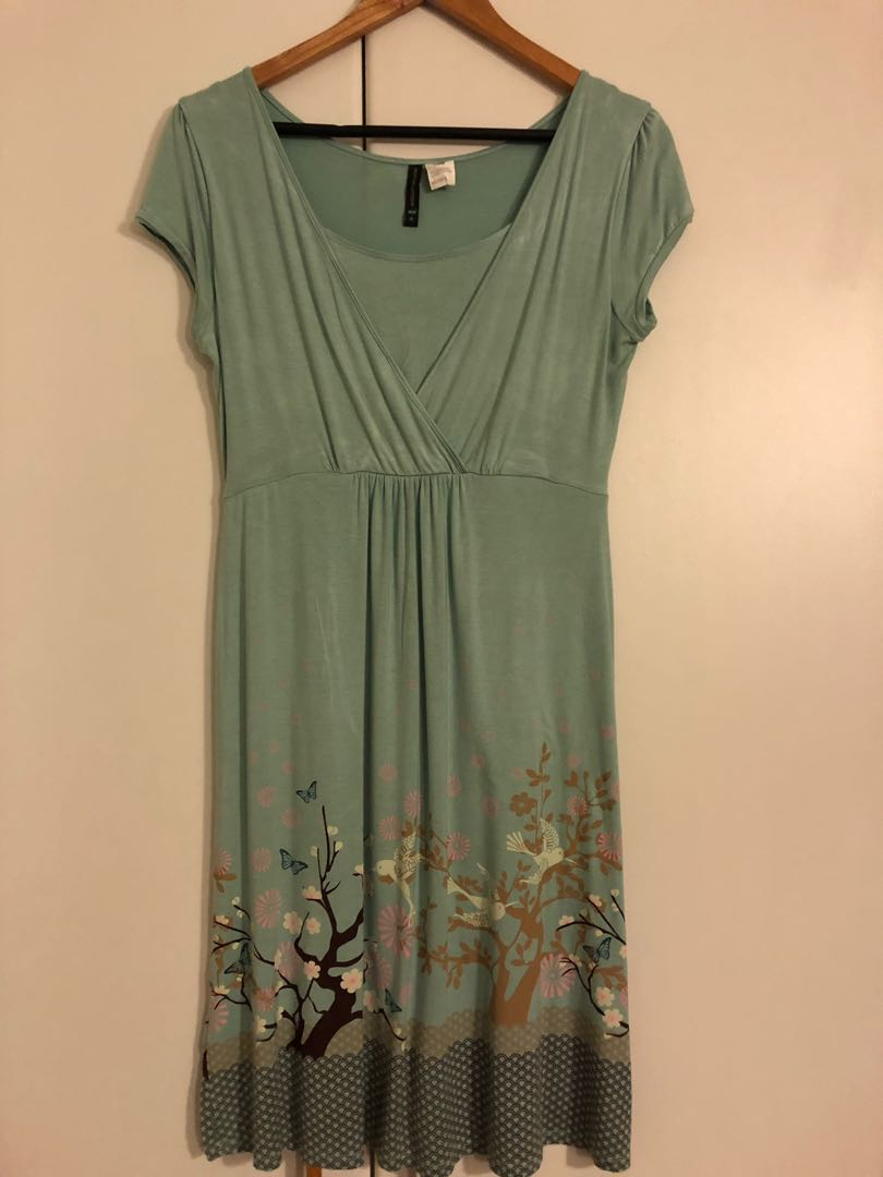 a1c428c4a5a Mothers En Vogue - Tara Maternity Dress Teal Harmony, Babies & Kids,  Maternity on Carousell