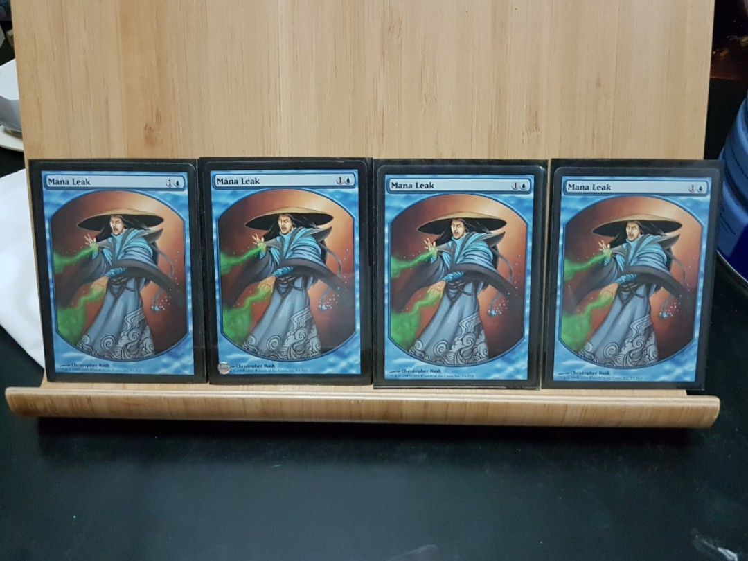 Mtg Promo Reward Mana Leak Textless X4 New Toys Games Board