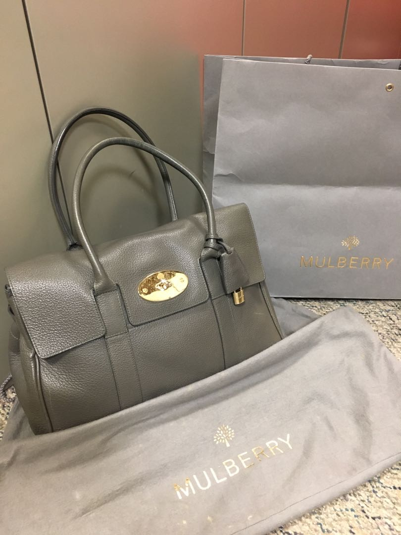 a39e470208 Mulberry bayswater tote (grey)
