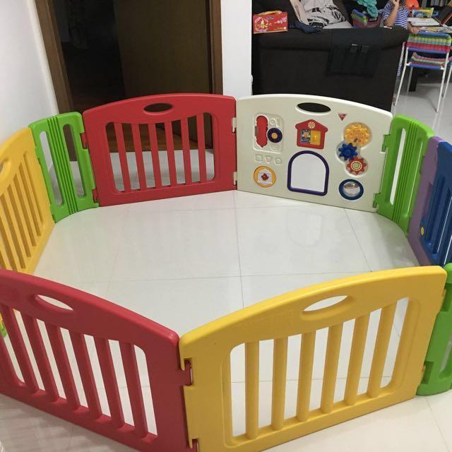 b591ec6f9 nihon ikuji 6 Panels Premium musical play yard