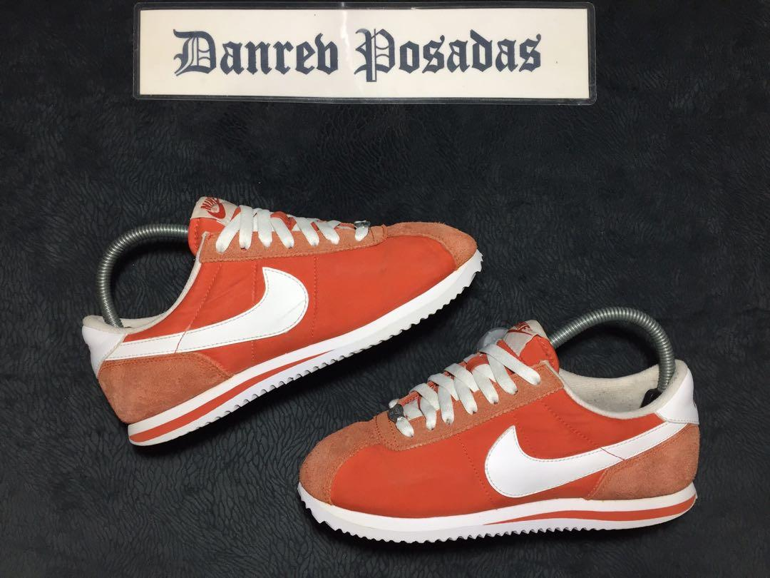 Orange Nike Cortez Nylon Gamuza, Men's