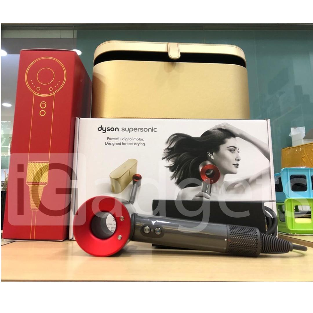 ORIGINAL Dyson Supersonic™ Red Hair Dryer with Gift Edition Gold Case