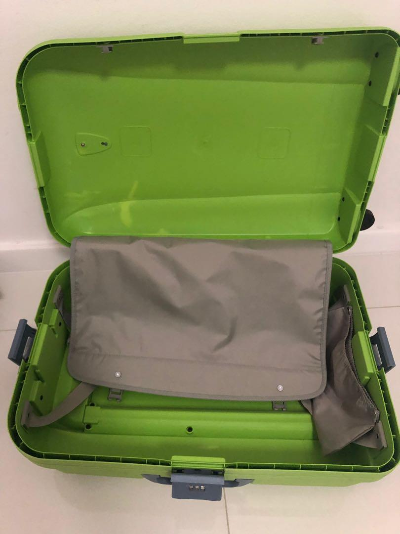 Pierre Cardin lime green suitcase very durable