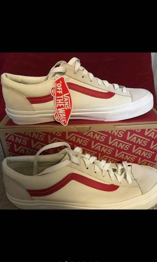0ca44fdd1933 Preorder Vans classic old skool red stripe white shoe