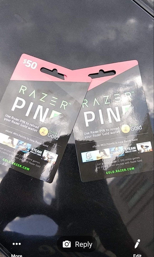 Brand new Sealed Razer Pin cards