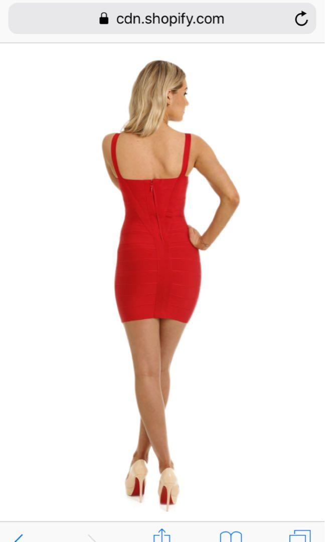 RENT holly red mini dress