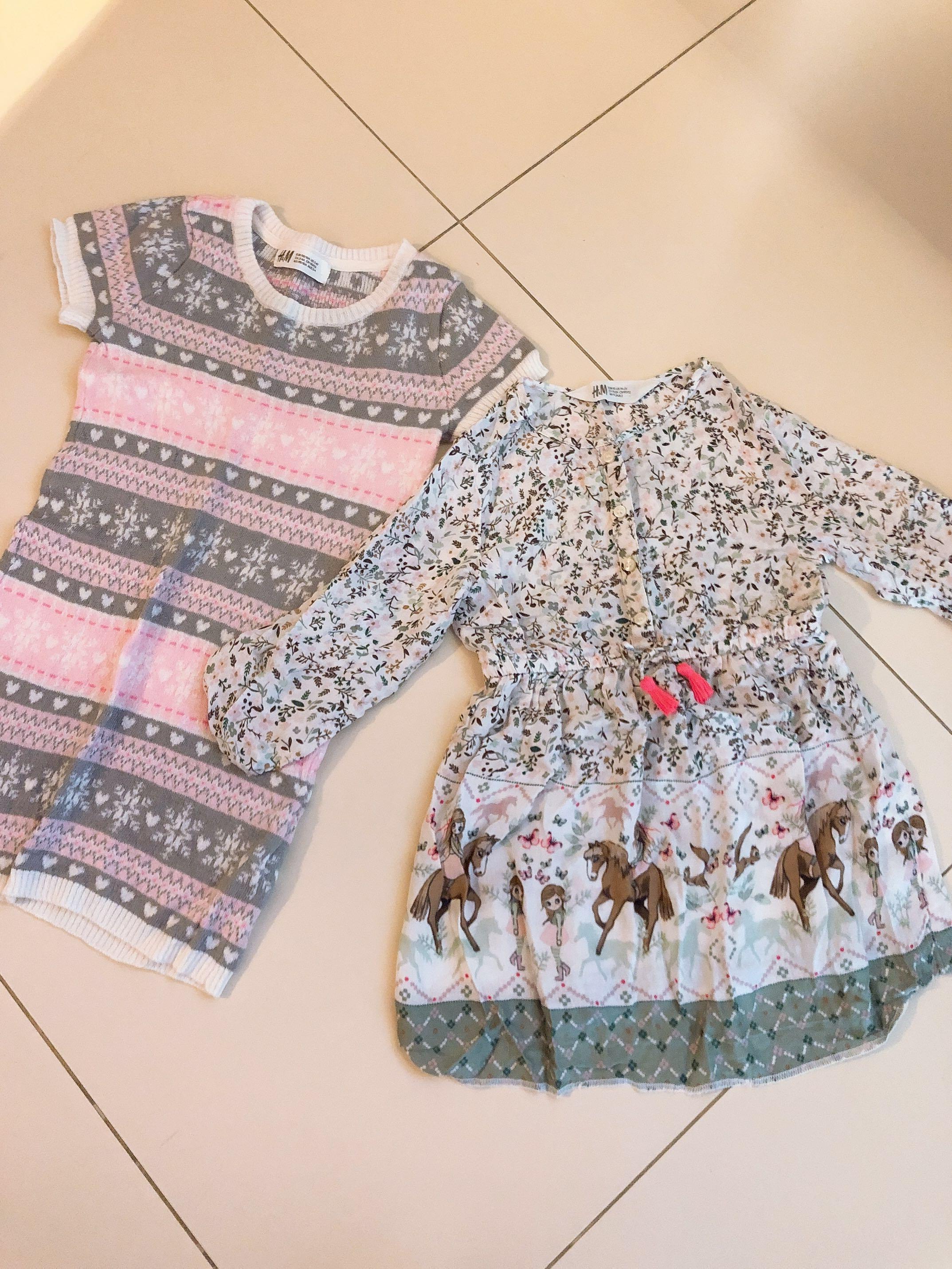 17fc3cb2c SALE! H&M Bohemian Girls 2Pcs Dress Set $20, Babies & Kids, Girls ...