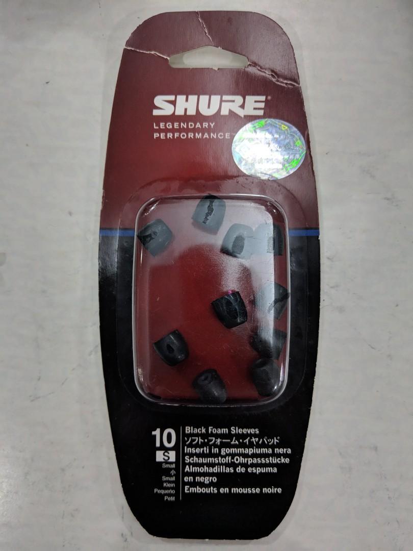 Shure Black Foam Sleeves (S) 黑綿 (細碼)