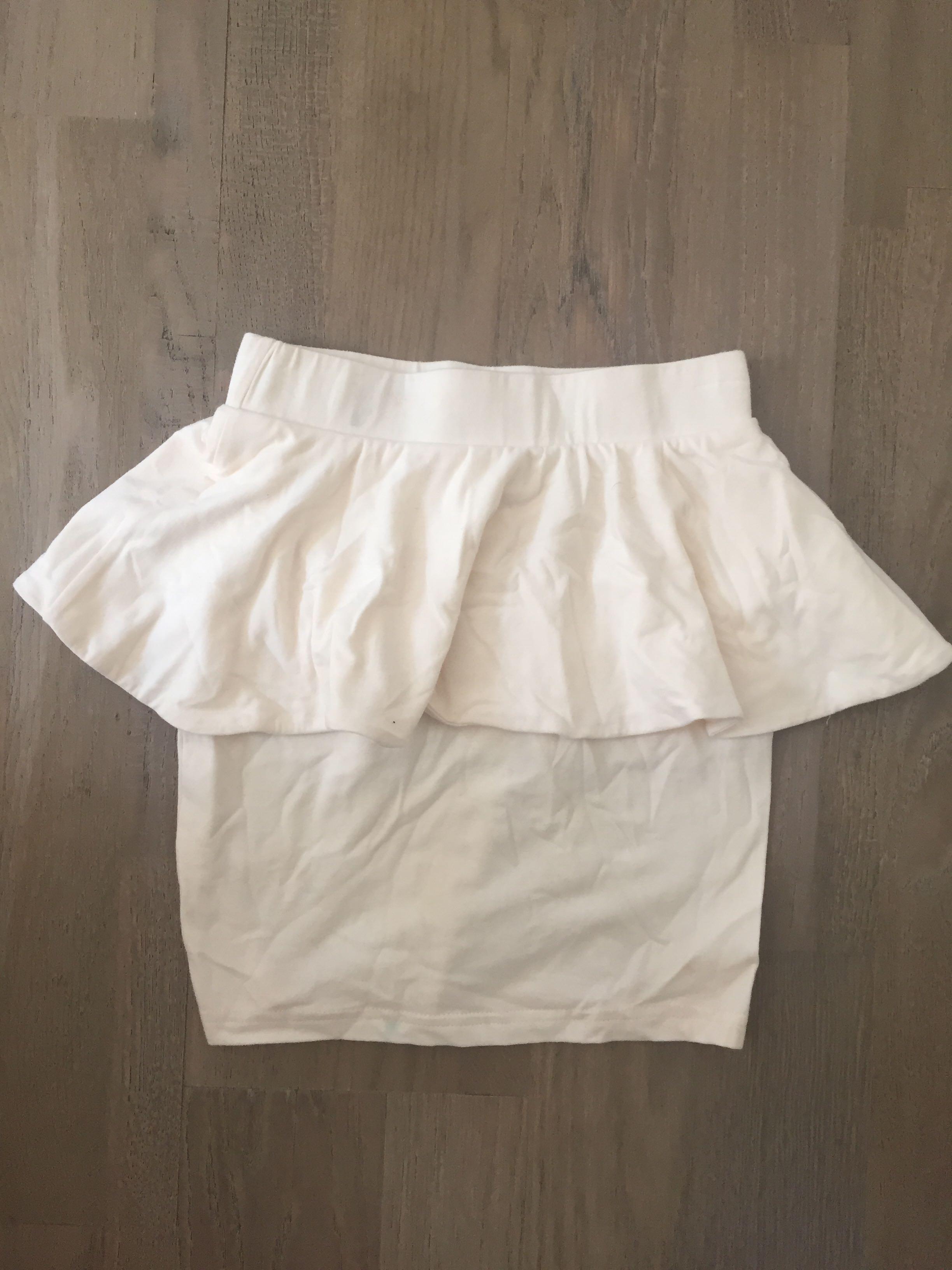 Size xxs cream peplum high waisted skirt excellent condition