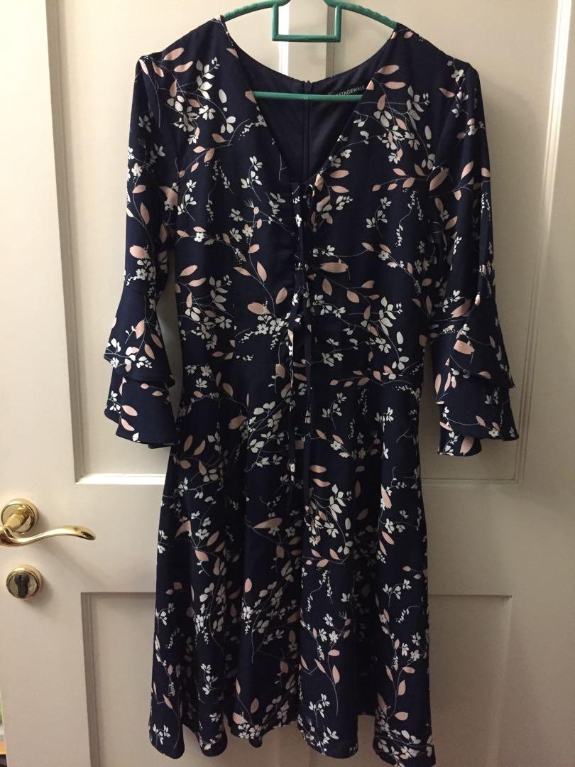 Stagewalk Floral Navy Dress
