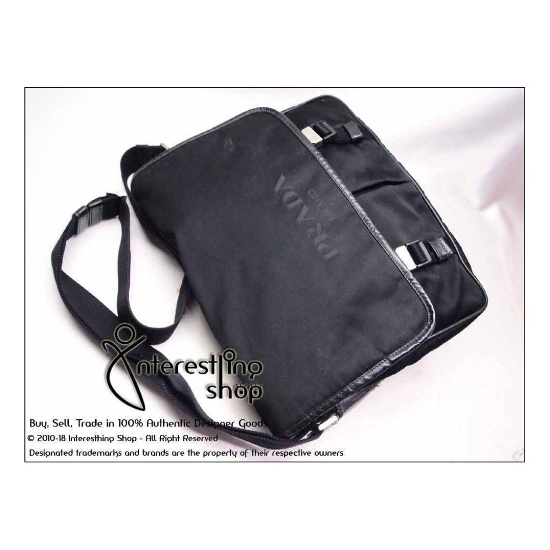 d8f2876c4cbc8 4763-06. Authentic Pre-Owned Prada Logo Tessuto Nero Crossbody Bag ...