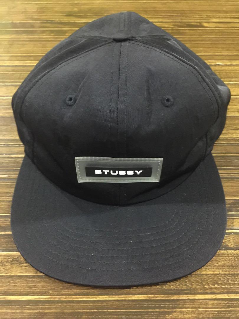 5184dd8a8f5 Stussy Nylon Twill Snapback Cap Black