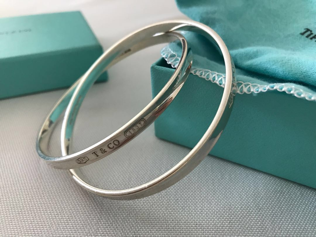 a4028f1d6 TIFFANY & CO 1837 interlocking circles bangle, Luxury, Accessories ...
