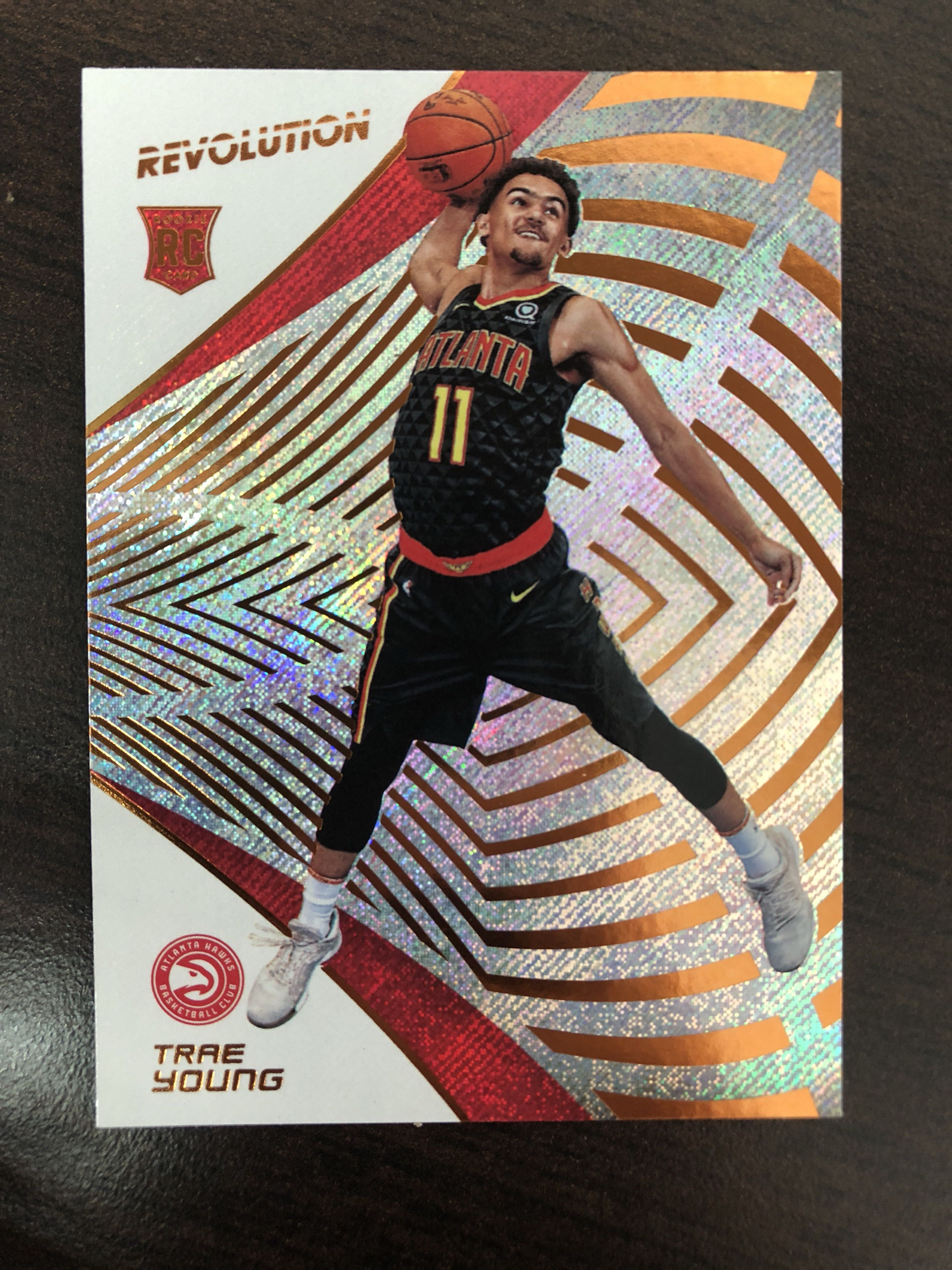 Trae Young 2018 19 Nba Panini Revolution Base Rookie Card