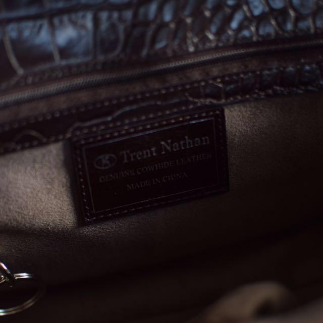 Trent Nathan cowhide leather bag