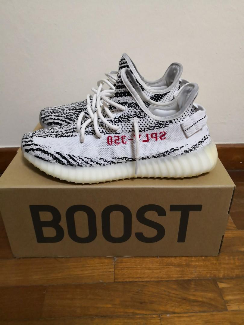 4f0166820 US 9.5  Yeezy 350 V2 Zebra