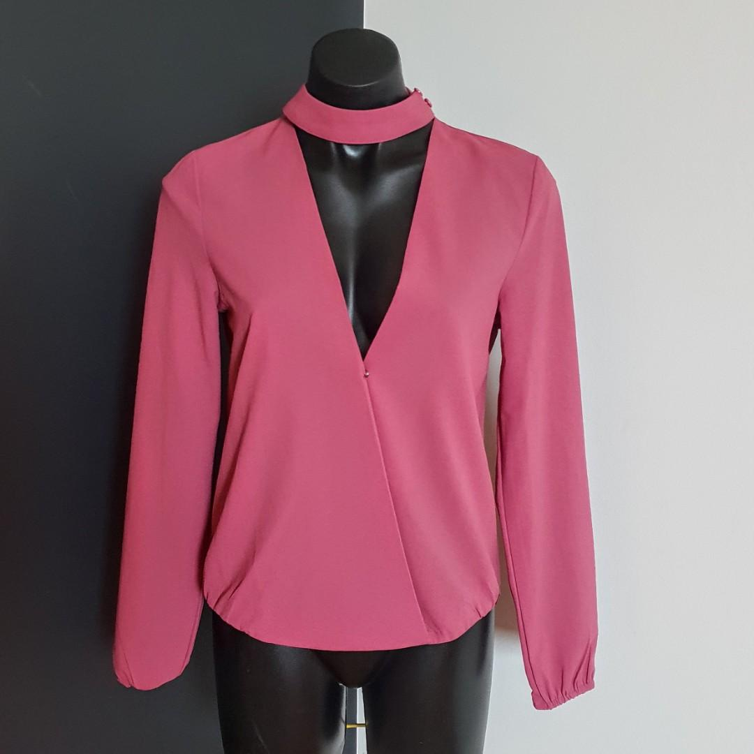 Women's size 10 'PARADISCO' Gorgeous dusty pink long sleeved blouse - BNWT