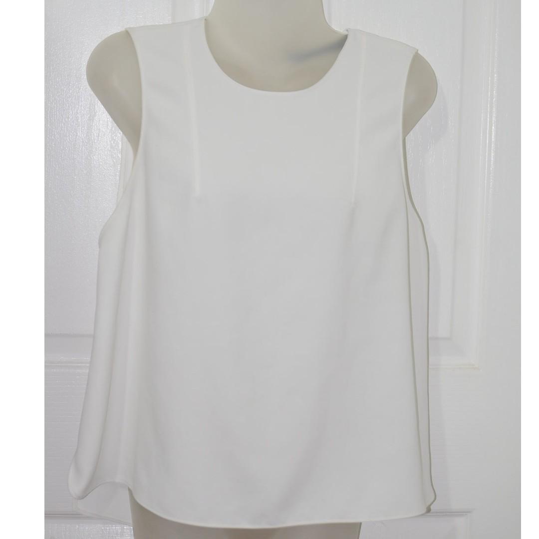 c6570adcde3539 Zara woman cream sleeveless top M