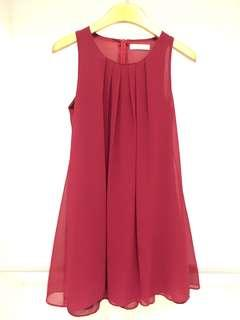 Maroon / Red Casual Dress