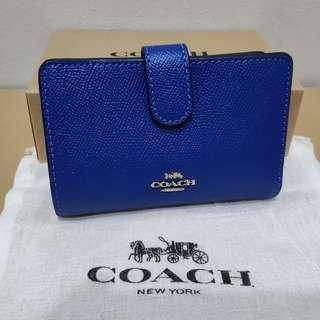 Coach Crossgrain Leather Medium Corner Zip Wallet