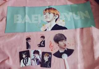 Exo Baekhyun Text Hologram Fansite Slogan Set
