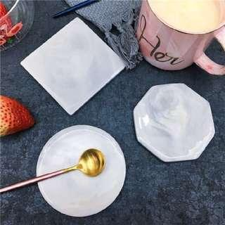 Ceramic Marble Drink Coaster (Cooling Tile For Pets Too!)