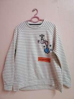 Black & White Stripes Sweatshirt