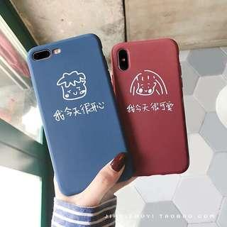 blue and red korena ulzzang case