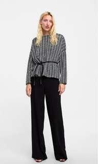 Zara check sweater