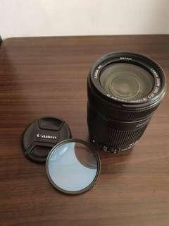Lensa Canon 18-135 mm IS + Canon 67 mm